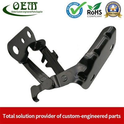 Progressive Die Stamping of E-coated Metal Stamped Bracket Latch for Aerospace Industry