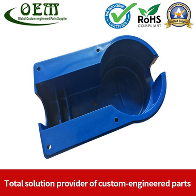 Factory Direct Deep Drawing Metal Stamping Shell with Blue Powder Coating for Flow Meters