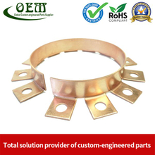 Customized Electrical Precision Brass Progress Die Stamping Terminal Contact Parts Used for PCB Panel