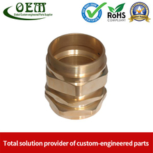 Brass Machining Parts - Coupling Threading Connector for Electrical Contacts & Connectors