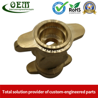 CNC Machined Brass Valve Body for Precision Measurement Devices