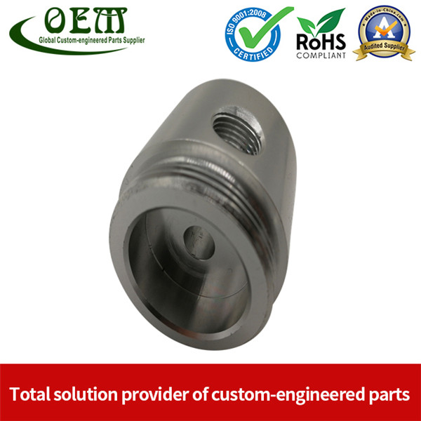 CE Certificated Hard Anodizing Aluminium CNC Turning Parts - Aluminum Connector for Electronic Light