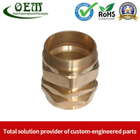CNC Turning Brass Nuts And Nipples for Medical Industry